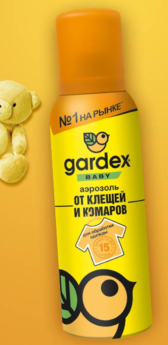 Аэрозоль от клещей и комаров для детей с 2 лет от Gardex